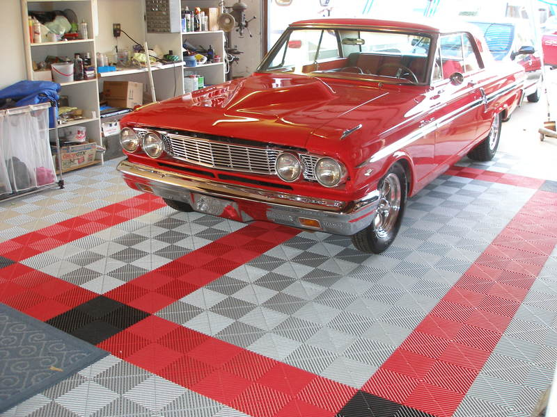 Ribtrax Garage Tile Flooring
